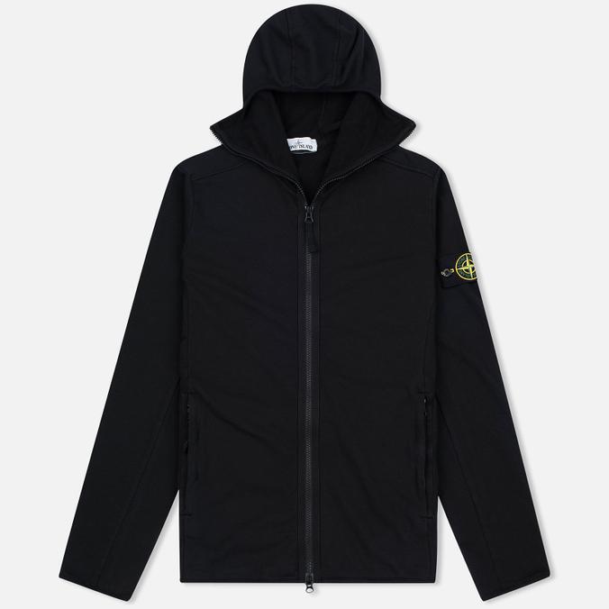 Мужская толстовка Stone Island Hoodie Jersey Full Zip Black