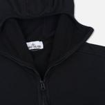 Мужская толстовка Stone Island Hoodie Jersey Full Zip Black фото- 1