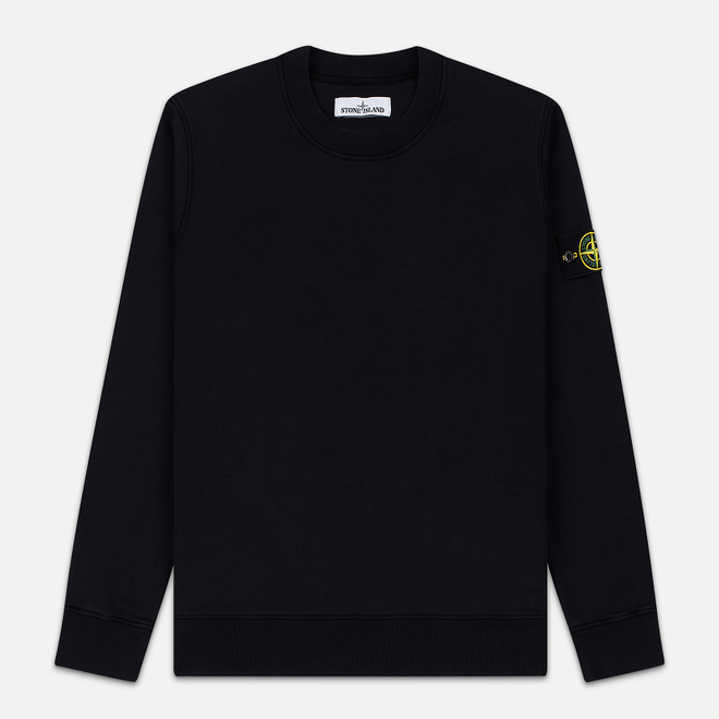 Мужская толстовка Stone Island Lightweight Loopback Cotton Crew Neck Black