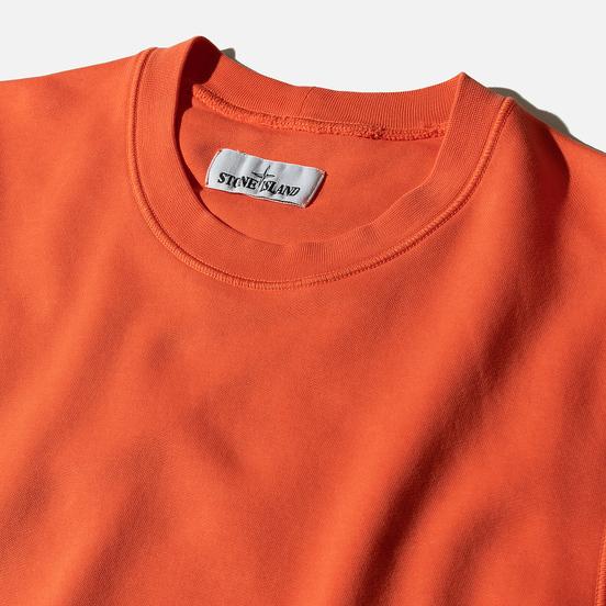 Мужская толстовка Stone Island Lightweight Loopback Cotton Crew Neck Bright Orange