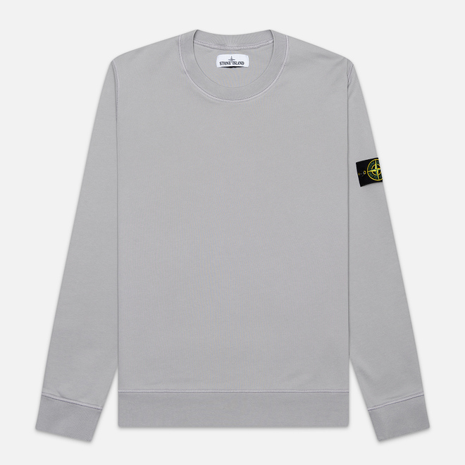 Мужская толстовка Stone Island Lightweight Loopback Cotton Crew Neck Dust Grey