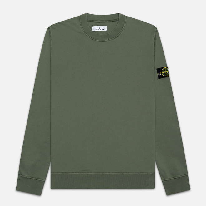 Мужская толстовка Stone Island Lightweight Loopback Cotton Crew Neck Olive Green