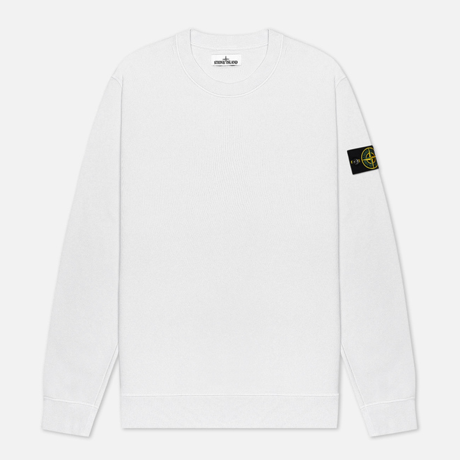 Мужская толстовка Stone Island Lightweight Loopback Cotton Crew Neck White
