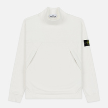 Мужская толстовка Stone Island Mock Neck Brushed Cotton Fleece Natural White фото- 0