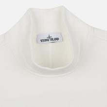 Мужская толстовка Stone Island Mock Neck Brushed Cotton Fleece Natural White фото- 1