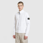 Мужская толстовка Stone Island Neck Standing Full Zip Garment Dyed White фото- 1