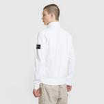 Мужская толстовка Stone Island Neck Standing Full Zip Garment Dyed White фото- 3
