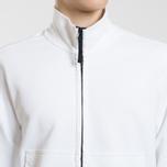 Мужская толстовка Stone Island Neck Standing Full Zip Garment Dyed White фото- 2
