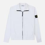 Мужская толстовка Stone Island Neck Standing Full Zip Garment Dyed White фото- 0