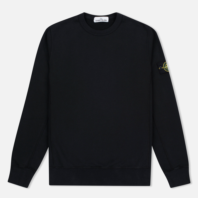 Мужская толстовка Stone Island Patch Crew Neck Black