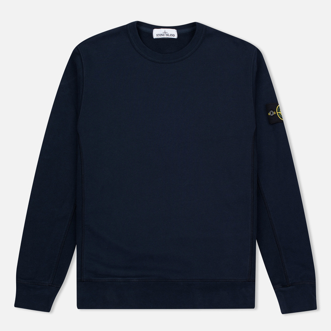 Мужская толстовка Stone Island Patch Crew Neck Blue