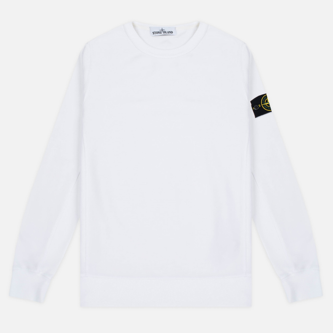Мужская толстовка Stone Island Patch Crew Neck White