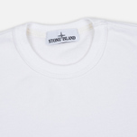 Мужская толстовка Stone Island Patch Crew Neck White фото- 1