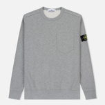 Мужская толстовка Stone Island Pocket Brushed Cotton Fleece Dust фото- 0