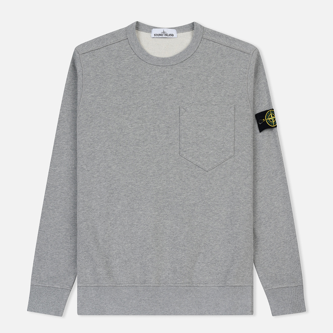 Мужская толстовка Stone Island Pocket Brushed Cotton Fleece Dust