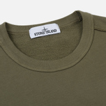 Мужская толстовка Stone Island Pocket Brushed Cotton Fleece Olive фото- 1