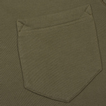 Мужская толстовка Stone Island Pocket Brushed Cotton Fleece Olive фото- 2