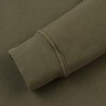 Мужская толстовка Stone Island Pocket Brushed Cotton Fleece Olive фото- 3
