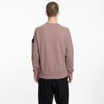 Мужская толстовка Stone Island Pocket Brushed Cotton Fleece Pink Quartz фото- 6