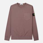 Мужская толстовка Stone Island Pocket Brushed Cotton Fleece Pink Quartz фото- 0