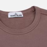 Мужская толстовка Stone Island Pocket Brushed Cotton Fleece Pink Quartz фото- 1