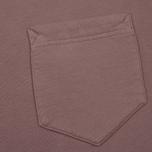 Мужская толстовка Stone Island Pocket Brushed Cotton Fleece Pink Quartz фото- 2