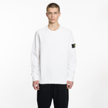 Мужская толстовка Stone Island Pocket Brushed Cotton Fleece White фото- 5