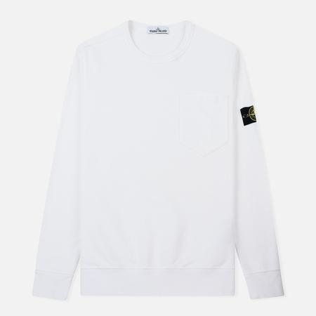 Мужская толстовка Stone Island Pocket Brushed Cotton Fleece White