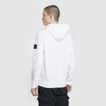 Мужская толстовка Stone Island Pouch Pocket Hooded White фото- 3