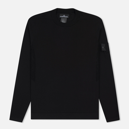 Мужская толстовка Stone Island Shadow Project Crew Neck Cotton Black
