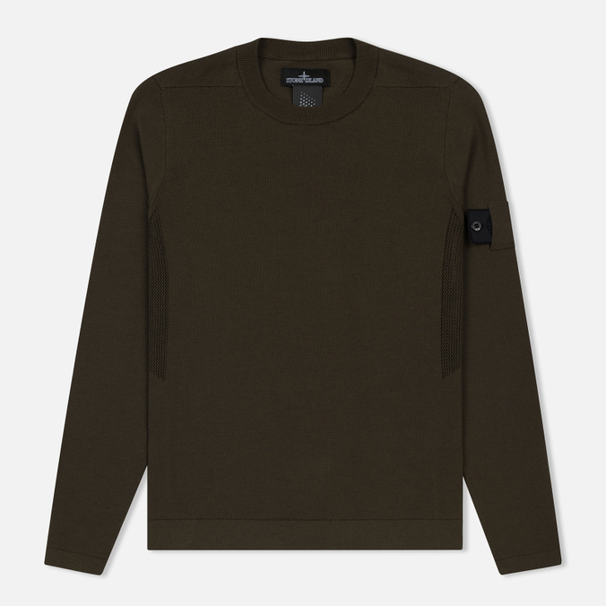 Мужская толстовка Stone Island Shadow Project Crew Neck Cotton Green