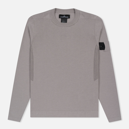 Мужская толстовка Stone Island Shadow Project Crew Neck Cotton Grey