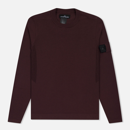 Мужская толстовка Stone Island Shadow Project Crew Neck Cotton Maroon
