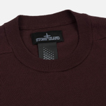Мужская толстовка Stone Island Shadow Project Crew Neck Cotton Maroon фото- 1