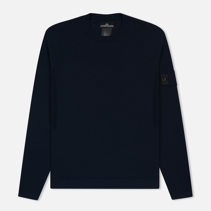 Мужская толстовка Stone Island Shadow Project Crew Neck Cotton Navy Blue