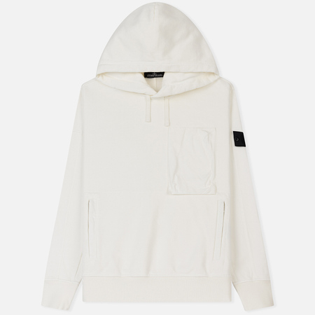 Мужская толстовка Stone Island Shadow Project Diagonal Weave Popover Hoody Natural White
