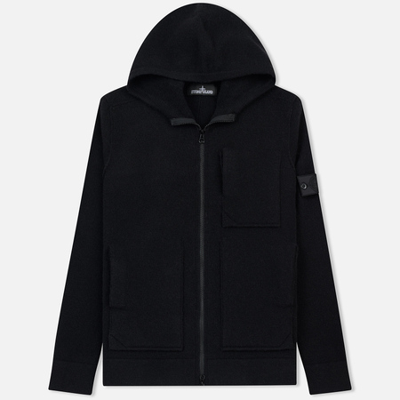 Мужская толстовка Stone Island Shadow Project Engineered Hooded Strata Pocket Black
