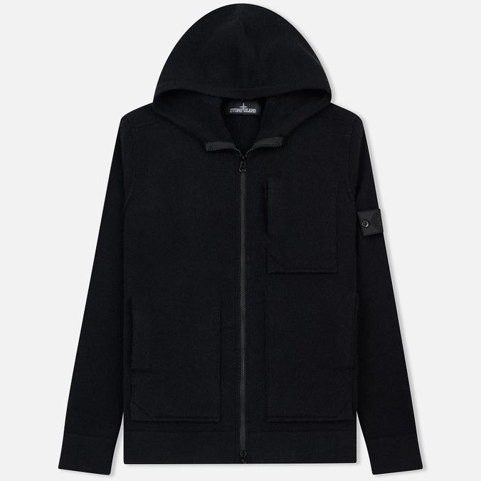 Мужская толстовка Stone Island Shadow Project Engineered Hooded Strata Pocket Black