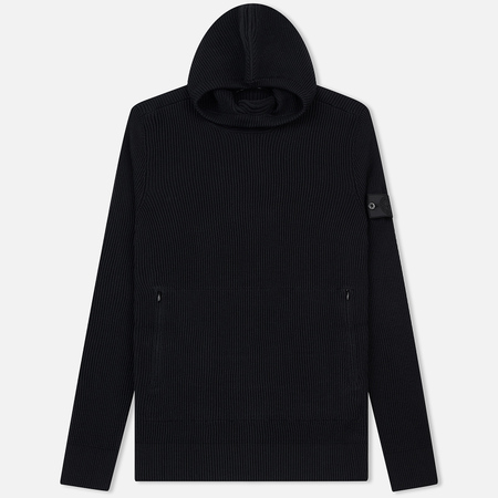 Мужская толстовка Stone Island Shadow Project Knitted Hoodie Virgin Wool/Silk Blend Black
