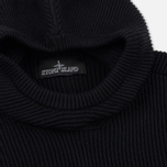 Мужская толстовка Stone Island Shadow Project Knitted Hoodie Virgin Wool/Silk Blend Black фото- 1