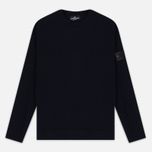 Мужская толстовка Stone Island Shadow Project Stretch Wool Intarsia Crew Neck Blue фото- 0
