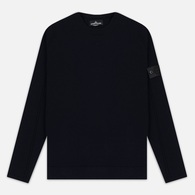 Мужская толстовка Stone Island Shadow Project Stretch Wool Intarsia Crew Neck Blue