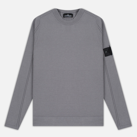 Мужская толстовка Stone Island Shadow Project Stretch Wool Intarsia Crew Neck Grey