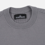 Мужская толстовка Stone Island Shadow Project Stretch Wool Intarsia Crew Neck Grey фото- 1