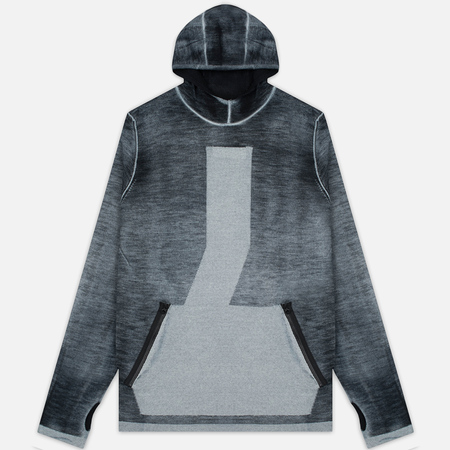 Мужская толстовка Stone Island Shadow Project Teleport Hoodie Jaquard Pure Wool Black