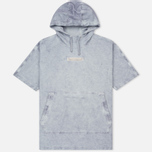 Мужская толстовка Stone Island Shadow Project Teleport Short Sleeve Hoodie Ultramarine Blue фото- 0