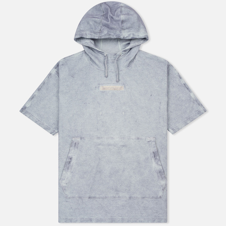 Мужская толстовка Stone Island Shadow Project Teleport Short Sleeve Hoodie Ultramarine Blue