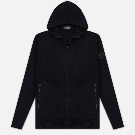 Мужская толстовка Stone Island Shadow Project Teleport Zip Hoodie Black