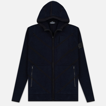Stone Island Shadow Project Teleport Zip Men's Hoodie Blue