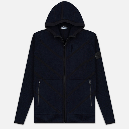 Мужская толстовка Stone Island Shadow Project Teleport Zip Hoodie Blue